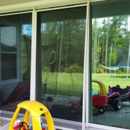 Sliding glass doors with low-e window film Jacksonville FL