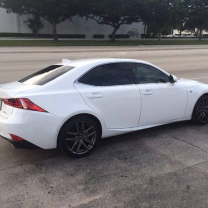 White Lexus with Tint Jacksonville, Fl 100% Tint Window Tint Jacksonville
