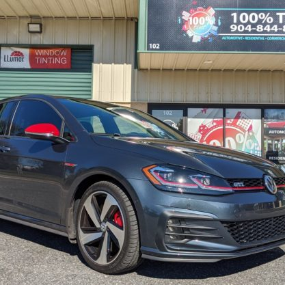 Volkswagen Gti With Red Mirrors and Windshield Tint