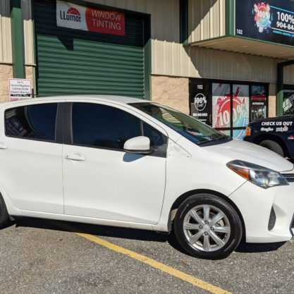 Toyota Yaris with Llumar Window Tint